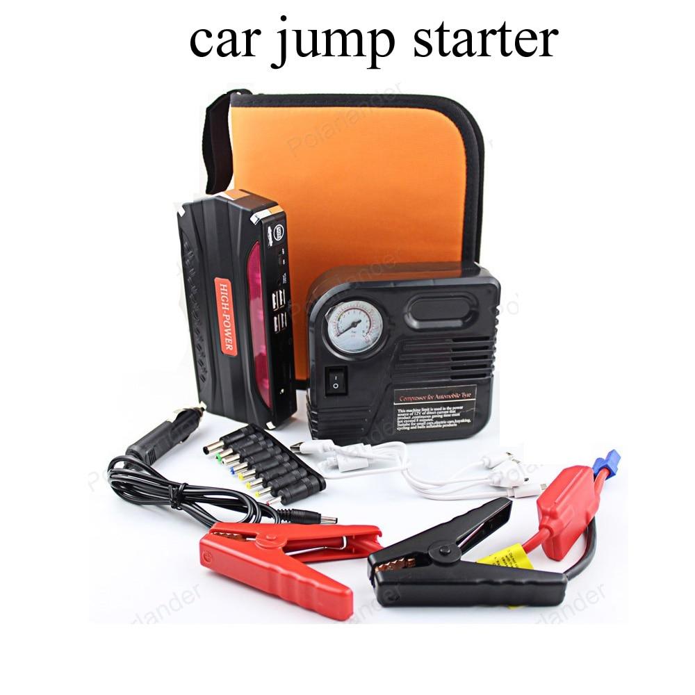 car jump starter power bank with car pump 12v emergency car battery booster Multi-function car starter US UK EU AU plugs