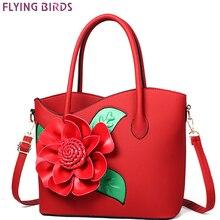 FLYING BIRDS famous brand women leather handbags designer tote flower women bags High quality messenger bags bolsas bag  A1061fb