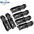 zk10 6pcs/lot 2000 lumens Led Flashlights torch CREE Q5 Aluminum alloy Camping Torch 3 modes Zoomable Focus light lamp lantern