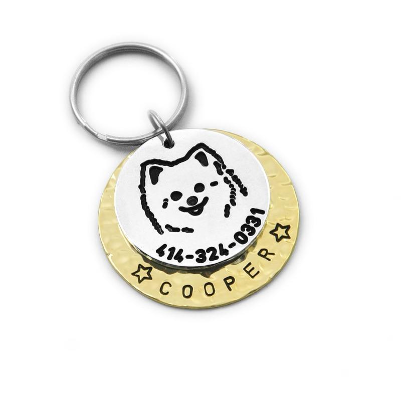 custom pomeranian dog tag engraved dog tag personalized pet id tag