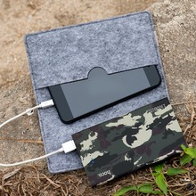 HOCO 13000mAh Camouflage Cookie Mobile Power Bank Portable Charger Mobile Power Battery Backup Charger Birthday Gift