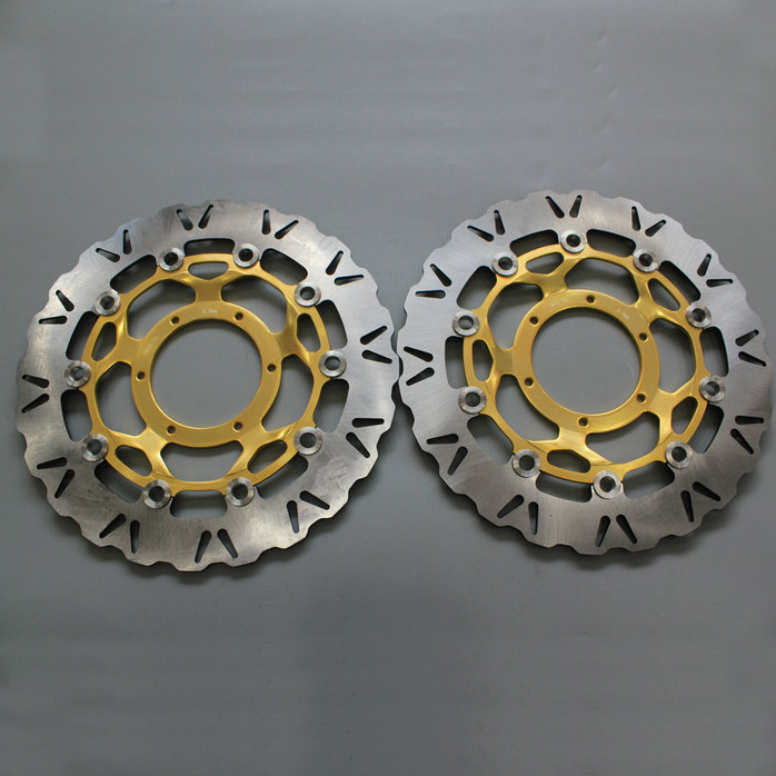 2 pieces motorcycle Front Disc Brake Rotor Scooter Front Rear Disc Brake Rotor for HONDA CBR600 2007 2008 2009 2010 2011 - 2013 2 pieces motorcycle front disc brake rotor scooter front rear disc brake rotor for honda cb400 1994 1995 1996 1997 1998