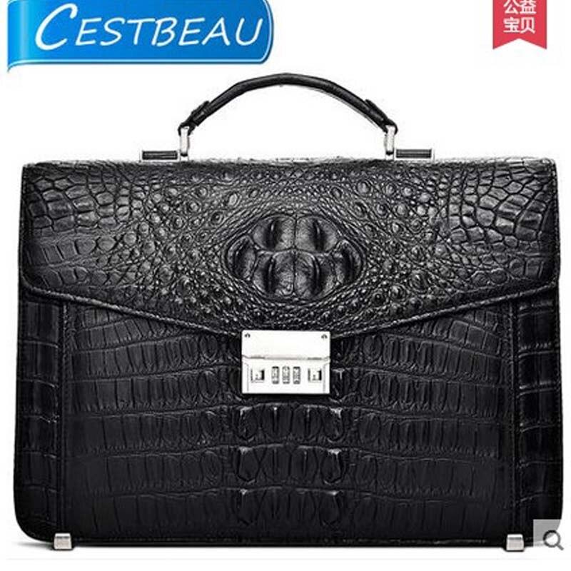 2019 Cestbeau men bag covers real crocodile men handbag cover man's package  business documents men bag