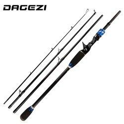 DAGEZI Carbon Fiber Lure wędka 1.8 M/2.1 M/2.4 M M moc 7-20g 4 sekcja wędka Ultralight pręt odlewniczy wędki