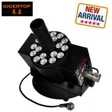 Promo offer Gigertop TP-T22S New 18x3W RGB Triple Color Stage Led Co2 Projector Machine LCD Display New Led Lamps Design/New Parker Gas Hose