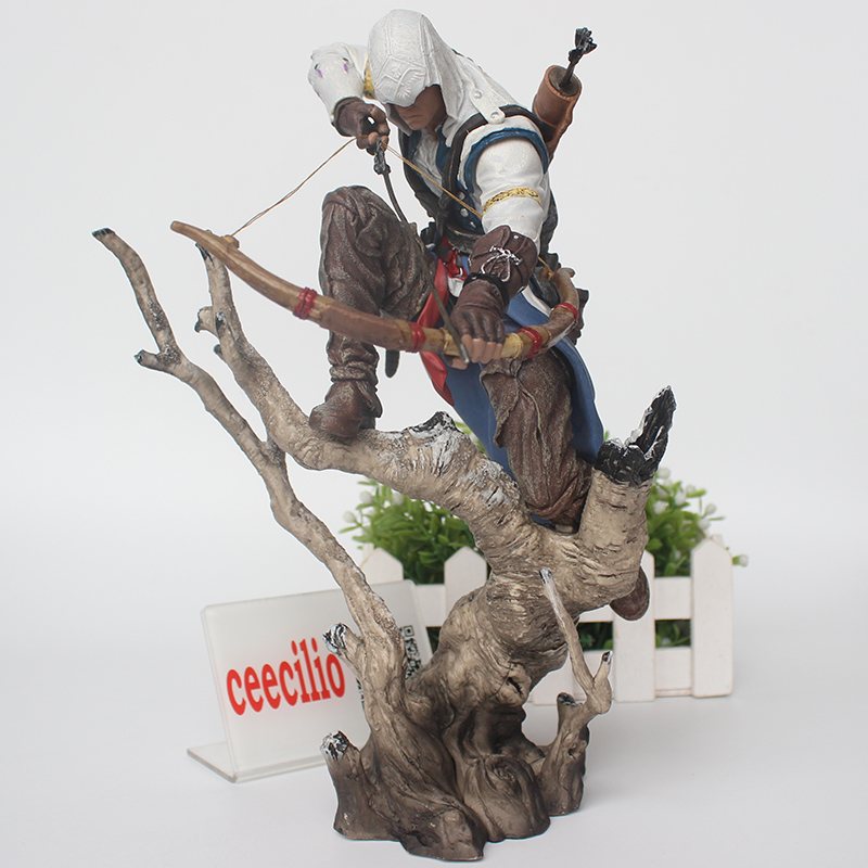 Assassin Creed PVC Anime Collectible Action Figures Toy Assassins Creed Connor Collection Model III Game 26cm assassins creed origins aya pvc figure collectible model toy 22cm