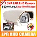 Veículo HD Analog AHD CCTV LPR Câmera 960 P, 5-50mm Lente Varifocal LEDs Automático, para o Lote de Estacionamento/Entrada/Estação de Pedágio