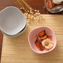 4pcs/set Bamboo Fiber Sauce Plates Dip Small Dish Creative Household Tableware Sauce/Fruit/Salad Food Container