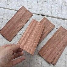 20 יח\חבילה 6x16 cm עובי: 0.5mm Sapele עץ שבבי עץ מלא גיליונות פורניר