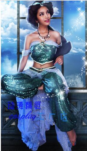 Hot Sale  New Arrival Aladdin Jasmine Princess Cosplay -4178