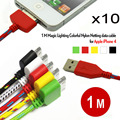 10pcs/lot colorful 1M 30PIN USB Date Sync Cabo Nylon Line Charger Cables adapter For iphone 4 4s Free Shipping