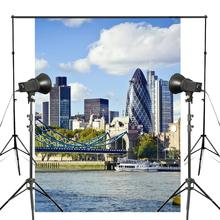 цены 150x220cm London Tower Bridge Photography Background Blue Sky Backdrop European theme Photography Studio Backdrop Props Wall
