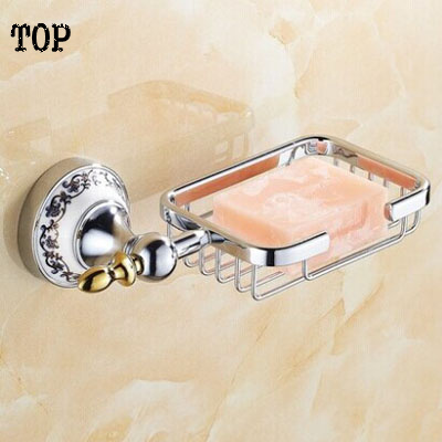 Bathroom chrome porcelain accessories Soap dish chrome soap basket holder bathroom hardware set