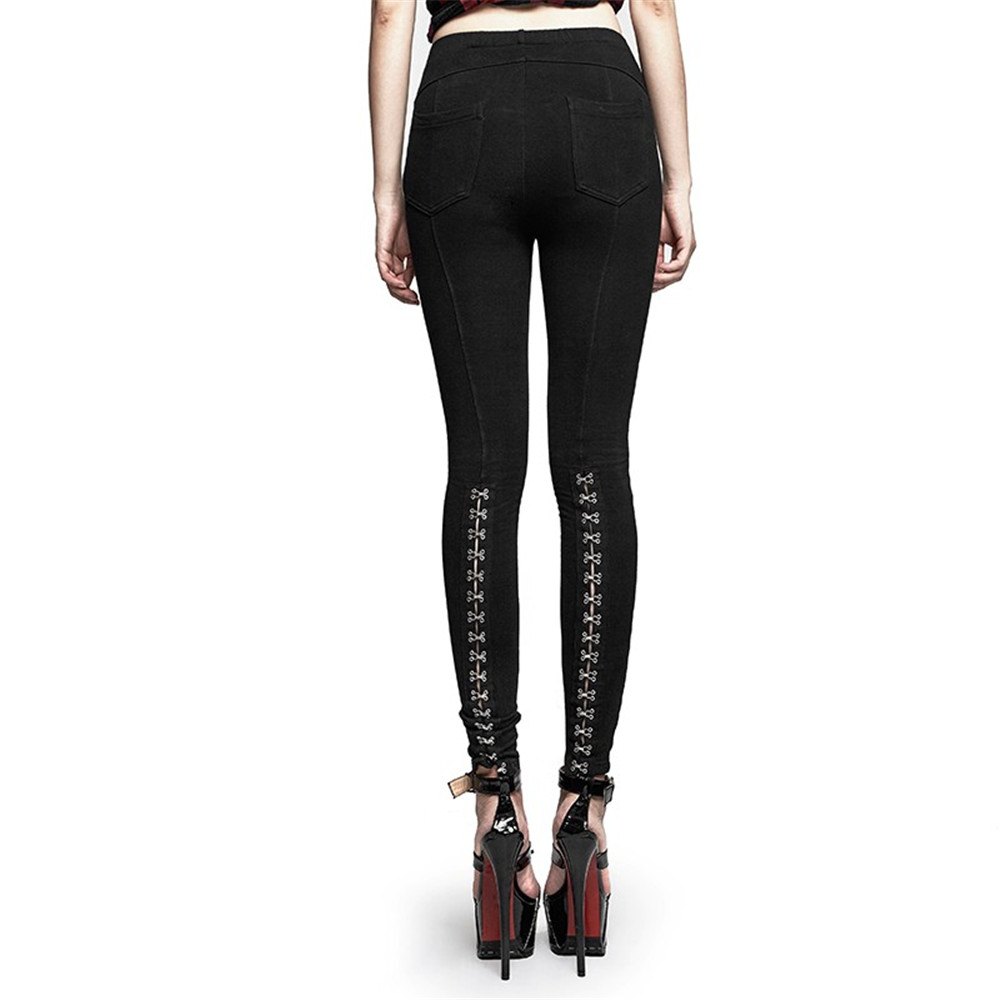 Pantalones largos de goma de látex de la naturaleza negra - 3