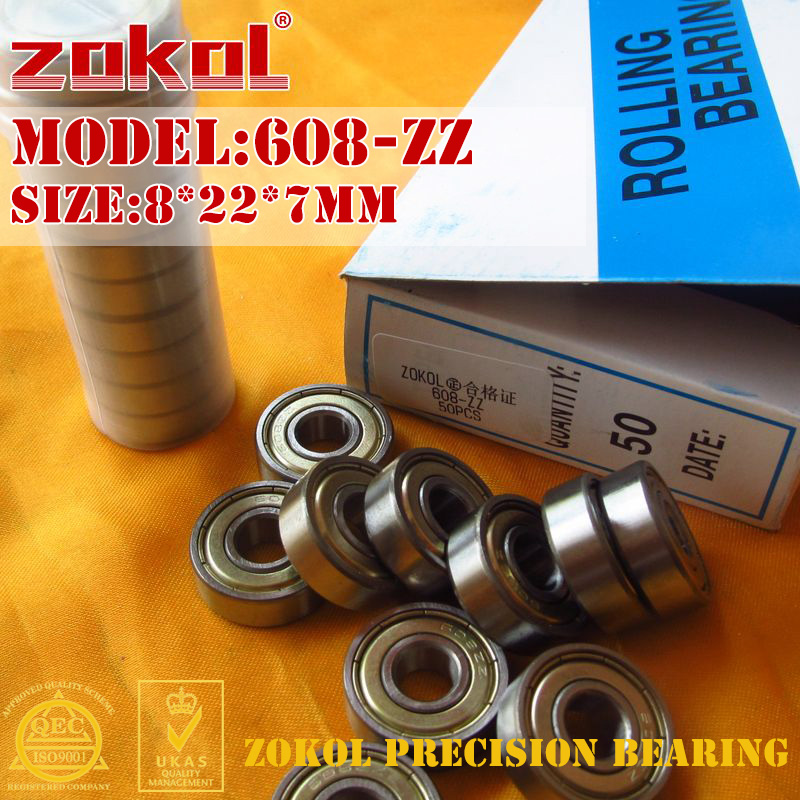 ZOKOL 608ZZ bearing 608 ZZ Miniature  608-ZZ Deep Groove ball bearing fidget spinner bearing 8*22*7mm 1000pcs spinner 608 bearing for unique fidget finger spinner triangle miniature rotating luxury toys edc hand spinners toy