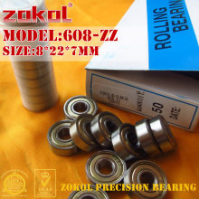 ZOKOL 608 ZZ 2RS RS bearing 608ZZ 608RS P5Z4 Z1 ABEC5 Miniature 608-ZZ Deep Groove ball bearing fidget spinner bearing 8*22*7mm(China)