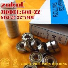 Zokol 608 zz 2rs rs rolamento 608zz 608rs p5z4 z1 abec5 miniatura 608-zz rolamento de esferas profundo do sulco rolamento de esferas fidget 8*22*7mm