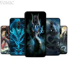 dragon dinosaurs Animal Silicone Case for Oneplus 7 7Pro 5T 6 6T Black Soft Case for Oneplus 7 7 Pro TPU Phone Cover