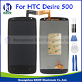 100% Tested New Lcd Display Touch Screen Digitizer Assembly For HTC Desire 500 Replacement Repair Parts Black + Tools