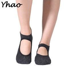 Yhao 100 cotton yoga pilates socks backless ballet socks terry silver deodorant non slip floor sports.jpg 250x250