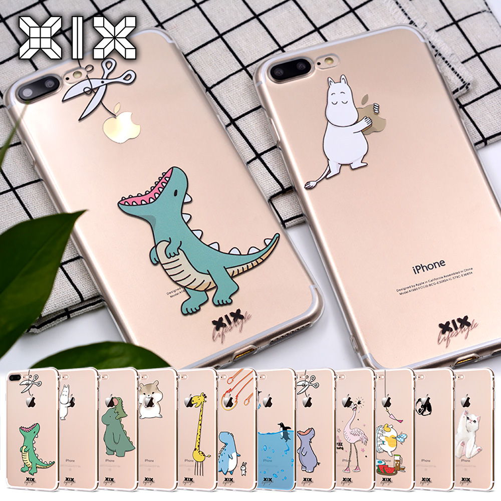 XIX for Funda iPhone X Case 5 5S 6 6S 7 8 Plus X XS Max XR Cute Animals for Cover iPhone 7 Case Soft TPU for Capa iPhone 6 Case kinston artistic girl figure pattern pu plastic case w stand for iphone 6 plus multicolored