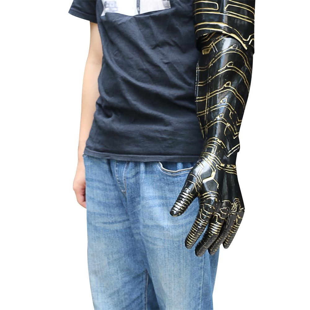 Movie Captain America 3 Civil War Cos Winter Soldier Arm Bucky Barnes Cosplay Costume Superhero Halloween Party New (9)