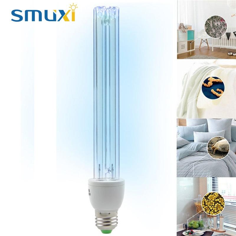 все цены на 20W E27 UV Light Tube Bulb Ultraviolet Disinfection Lamp UVC Ozone Sterilization Mites Lights Germicidal Lamp AC220V