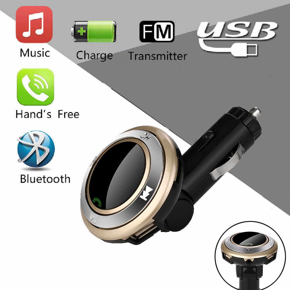 車の自動車多機能ワイヤレスハンズフリー mp3 Q7 2USB 充電 LED MP3 Bluetooth カー Fm トランスミッタマイクヴィンテージラジオ h0127