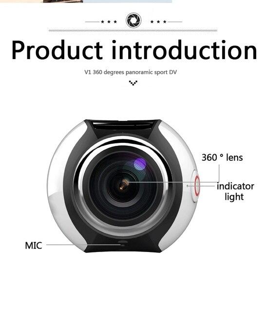 DHL 2017 KaRue 360 Camera 4K Wifi Mini Panoramic Camera 2448*2448 Ultra HD Camera 360 Degree Waterproof Sport Driving VR Camera