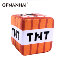 1pc 20cm Cartoon Game Minecraft TNT Bomb Plush Toy Stuffed Keychain  Doll Toy Pillow for Children Chair birthday Gift