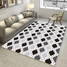 Modern bedroom living room carpet Nordic Geometry Chart coffee table bedroom bed child crawling mat(China)