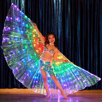 New Kids LED Isis Wings for Belly Dance nice Rainbow White Children  LED light Wings luminous dance Props LED Wings for girls - DISCOUNT ITEM  5 OFF All Category