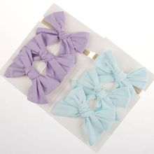 Premium New 3Pcsset Baby Big Hair Bows Knot Hair Clips Kids Girls Infant Toddler Headband Headwear Sets Hair Accessories