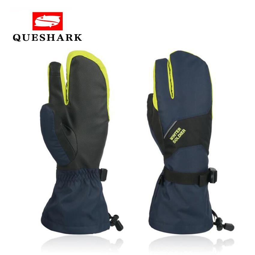 Men Women 3 Fingers Touch Screen Skiing Gloves Windproof Long Wrist Winter Warm Mittens Snowboard Children Waterproof Ski Gloves
