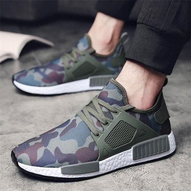 7514b9028 Sapatos Homens Moda Casual Sneakers Outdoor Corriendo Cinta Sapatilha Homens  Sapatos Masculinos Respirável Sapatos de Treino
