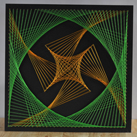 Spiral Geometry Figure String Art Kit DIY Winding Painting for Boys Girls 16x16''