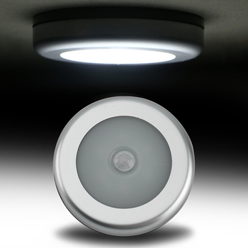 BORUiT PIR Motion Sensor 6 LED Under Cabinet Light Kitchen Bedroom Wireless Magnetic Closet Light Sensor Stair Light Night Lamp