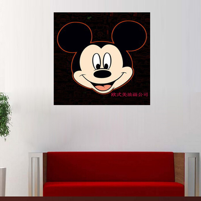 Ears Canvas Painting Mickey Mouse Art Living Room Home Wall Paintings Animal Wedding Decoration In Calligraphy From
