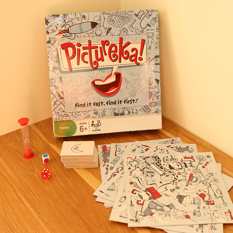 English Family Party Pictureka Board Game Cards 2-7 Players Family/Party Nteresting Cards Game Entertainment