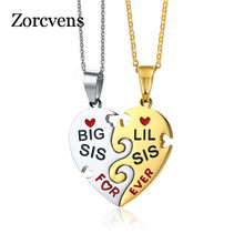 ZORCVENS Interlocked Friendship Heart Pendant for Women Necklace Stainless Steel Female Best Friend Statement Jewelry(China)