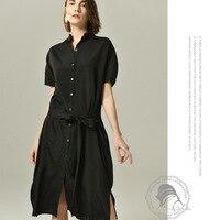 Черное шелковое платье рубашка рокабилли летние платья плюс размер Подсолнух длинный богемный пляжный сексуальный халат ete 2019 femme свободны