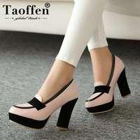 TAOFFEN ladies high heel shoes women sexy dress footwear fashion lady female brand pumps P13025 hot sale EUR size 34 47