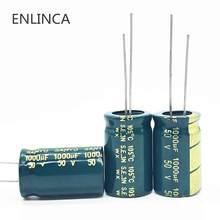 Capacitor eletrítico de alumínio com alta frequência, 20 pçs/lote t16 50v 1000uf, tamanho 13*20 1000uf 50v 20%
