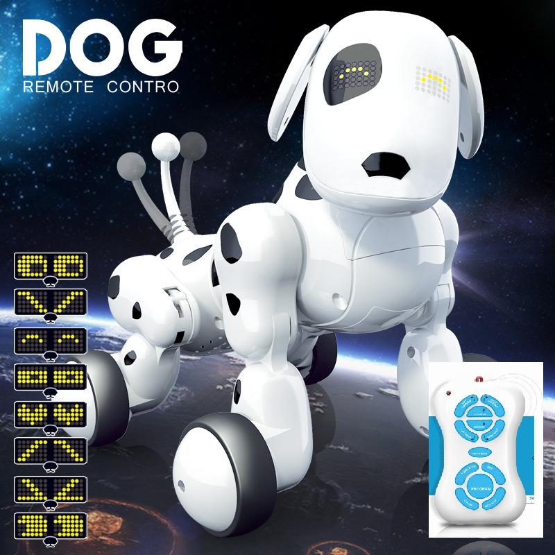 где купить Intelligent RC Robot Dog Smart Dog Kids Toys Cute Animals RC Intelligent Robot Remote control toys дешево