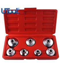 7Pcs Car Oil Filter Socket Wrench Tool  Set Remover Cap Tool for Benz BMW FORD 24 mm 27mm 29mm 30mm 32mm 36mm 38mm