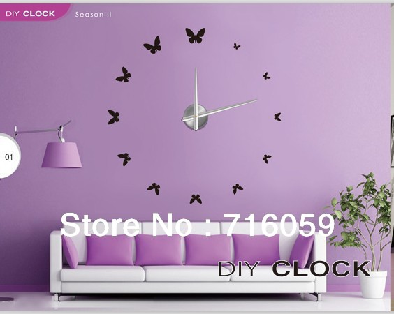Online Shop FREE SHIPPING Modern Frameless Large Wall Clock DIY ...