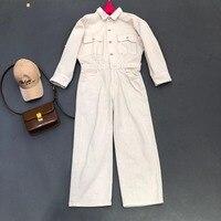 2019 Дамская мода свободный талия повседневный комбинезон 0510
