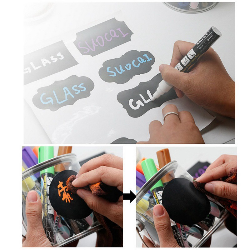 Urijk 5pcsset Environment-friendly Remove PVC Blackboard Sticker And Kindergarten Graffiti Wall Sticker