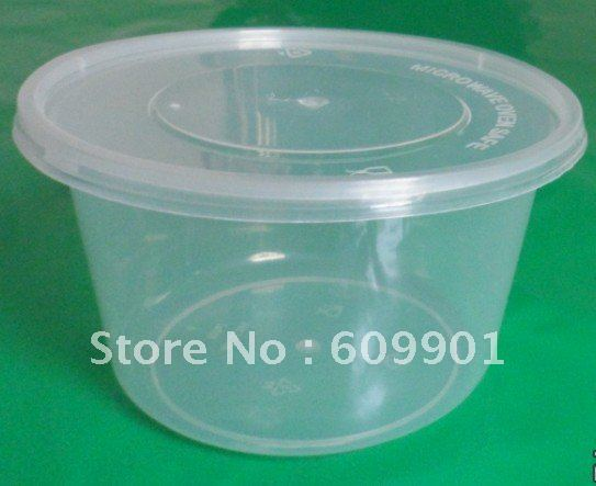 400ml disposable microwave plastic food container bowl with lid