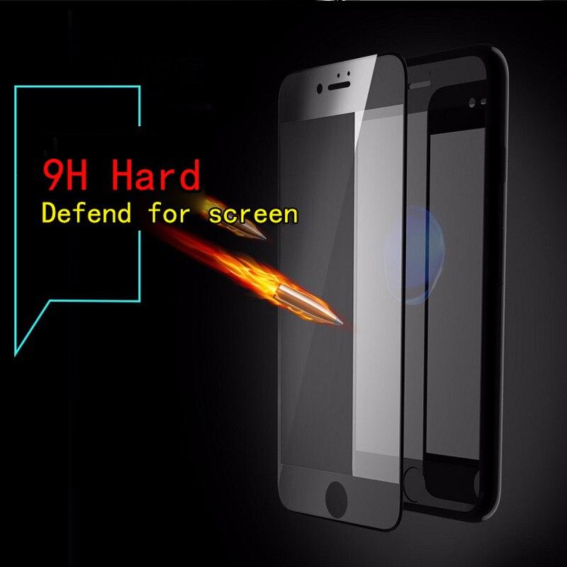 För iPhone 7 6 6s skärmskydd Härdat glas Hel täckning 3D böjd - Reservdelar och tillbehör för mobiltelefoner - Foto 3